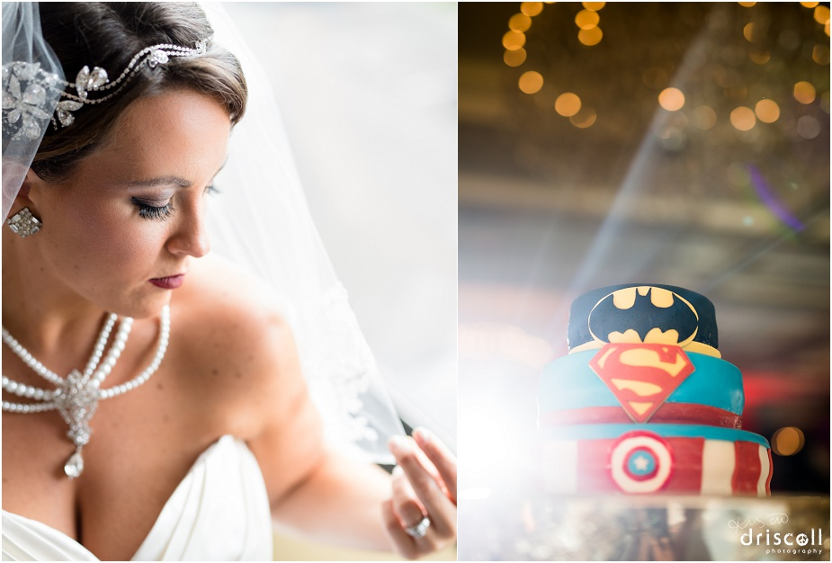gatsby-bride-super-hero-grooms-cake-crystal-ballroom-radisson-freehold-nj-kristen-driscoll-photography